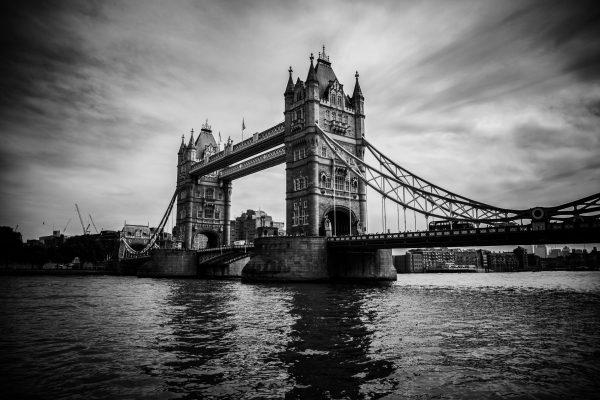 Print Tower Bridge schwarz weiß
